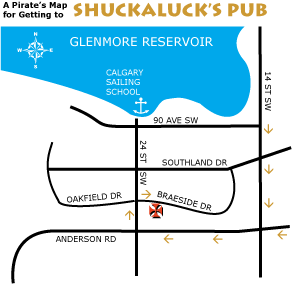 Directions to Shuckaluck's