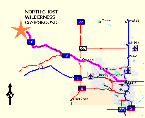 Directions: North Ghost Campground